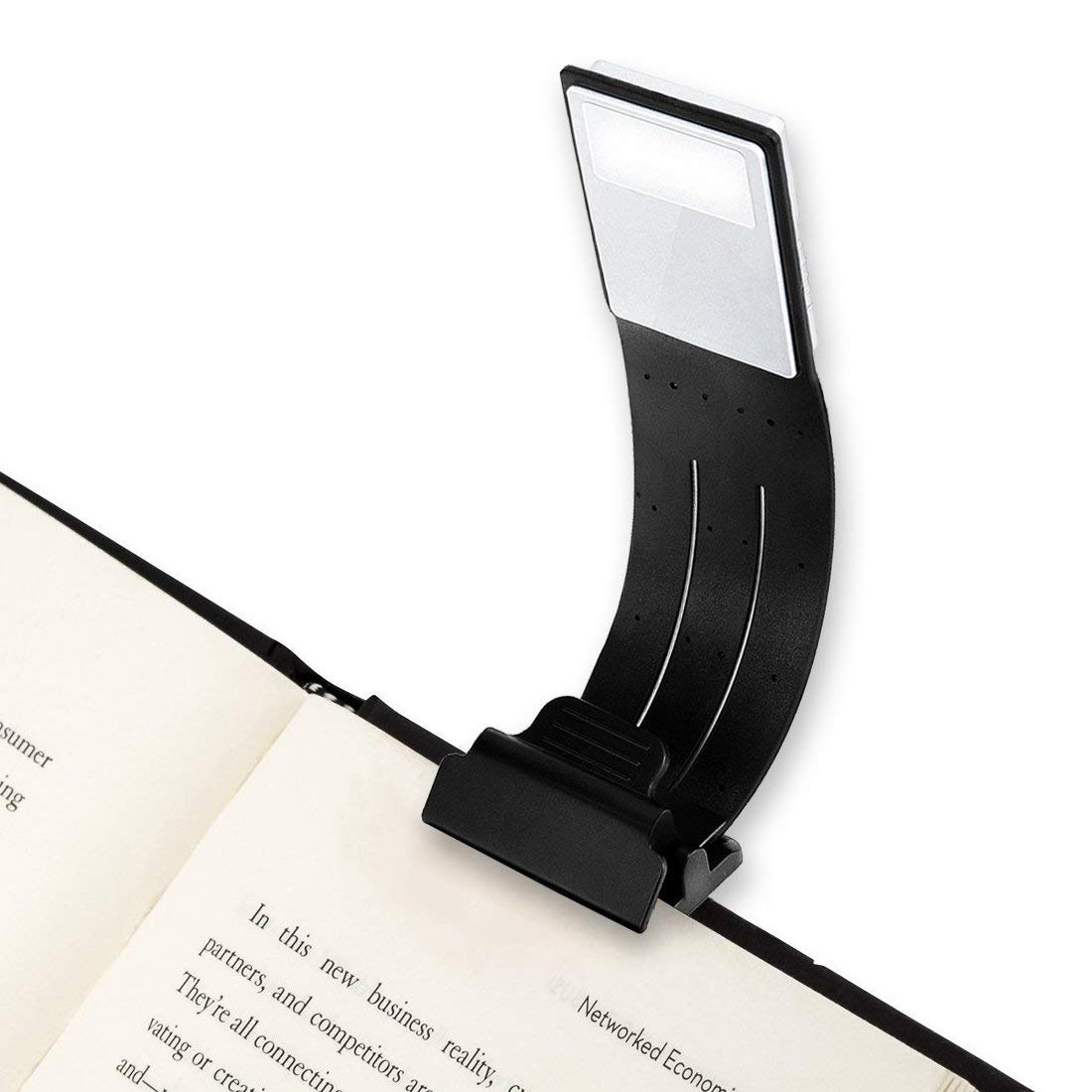 Night Book Light – J-Deal Portable Clip Reading Light, Brightness Flexible LED Reading Lamp, Eye Protection, USB Rechargeable, Bookmarks Lights Kindle, Studio Lighting Book, Reading in Bed