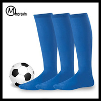 2016 Morewin OEM high quality cotton Men sport knee high football socks soccer socks basketball socks wholesale