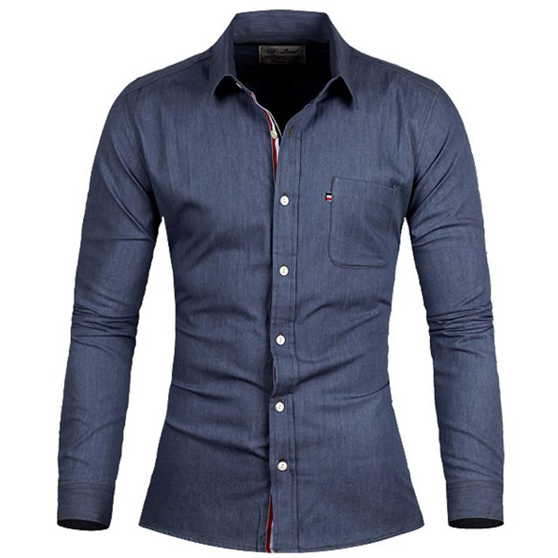 de039e437f9 Buy Brand Denim Shirts Chemise Homme 2015 Autumn Fashion ...
