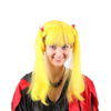 online fashion chinese bang wig quality yellow halloween wig with ponytail