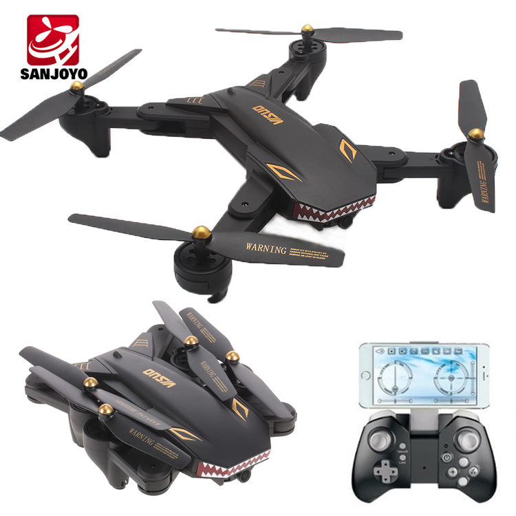 0.3MP Camera drone foldable wifi FPV Drone RC quadcopter drone with G-sensor altitude hold flight time 20mins VISUO XS809S