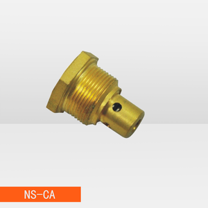 Hexagonal sharp brass camping gas valve