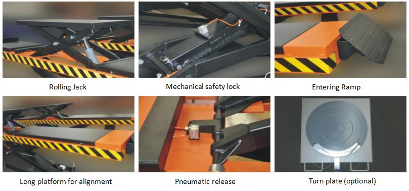 hot new 4T pneumatic scissor car lift