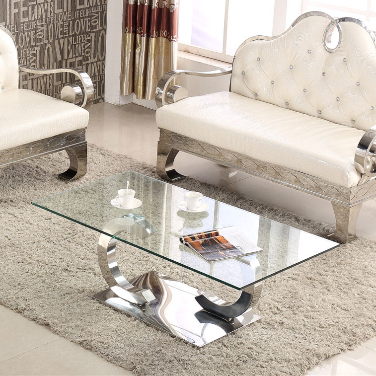 Living Room Furniture Modern Design Gl Top Center Table With Coffee Mirrored