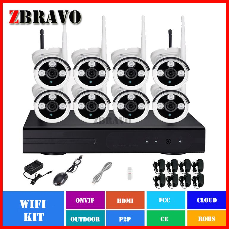 Factory price 1MP Camera kit Day and night 15m infrared vision 8 channel WI-FI CMOS Sensor