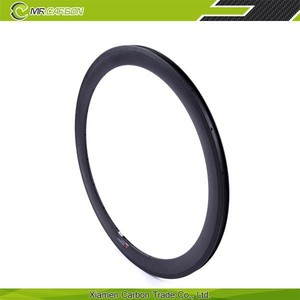 100% Toray T700 full cabron fiber 50mm clincher carbon rims 36h basalt braking surface for promotion