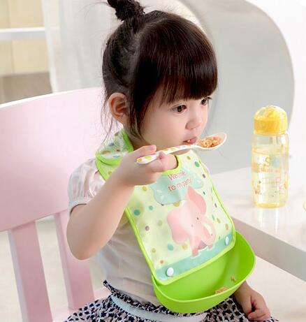 Baby to eat food waterproof leak can be conveniently disassembled washing children bib Bib <strong>silicone</strong> slobber pocket/ baby silicon