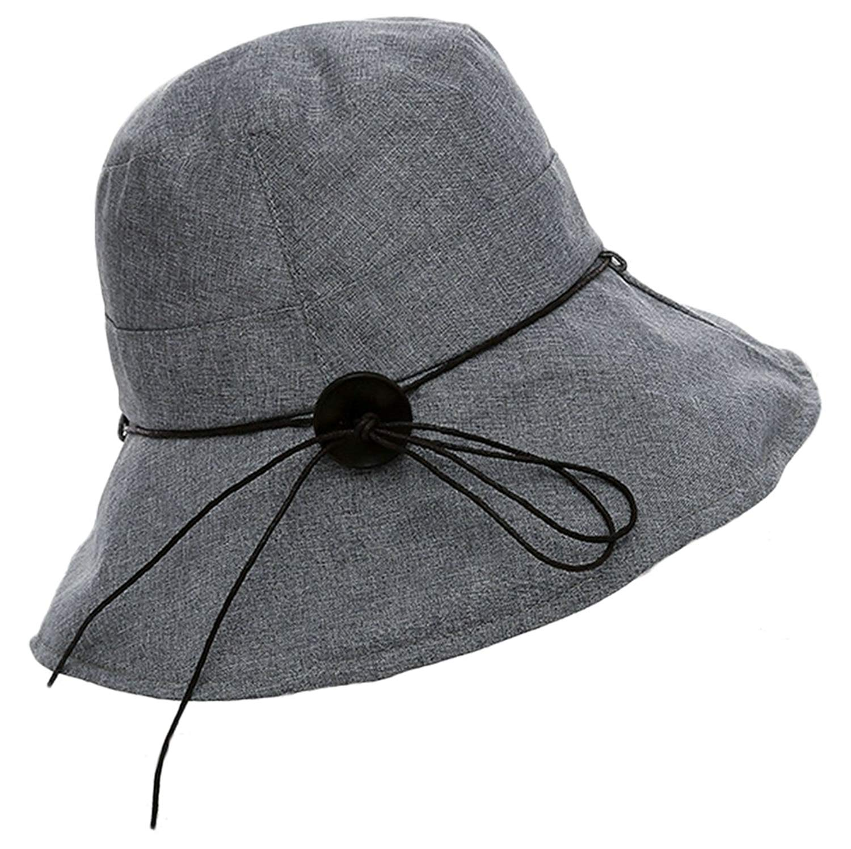 Elezay Women s Visor Hat Wide Brim Outdoor UPF 50+ Summer Sun Caps Packable fe35147ae1c9
