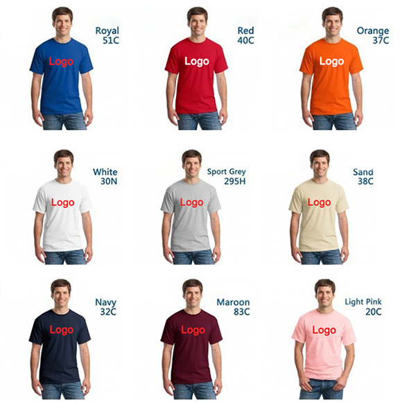 First Class Quality 100% Cotton Custom Men T Shirt  Printing With 20 Colors For Your Selection