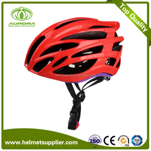 CE Road Bicycle Helmet Ladies Cycle Helmets In Red Color
