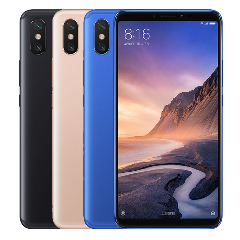Xiaomi mi max 3 smartphone 4gb+64gb global official version dual ai rear cameras 6.9 inch miui 9.0 android mi mobile phone фото