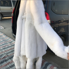 ALICEFUR Wholesale supply fox fur skin real natural white fox fur pelt for sale