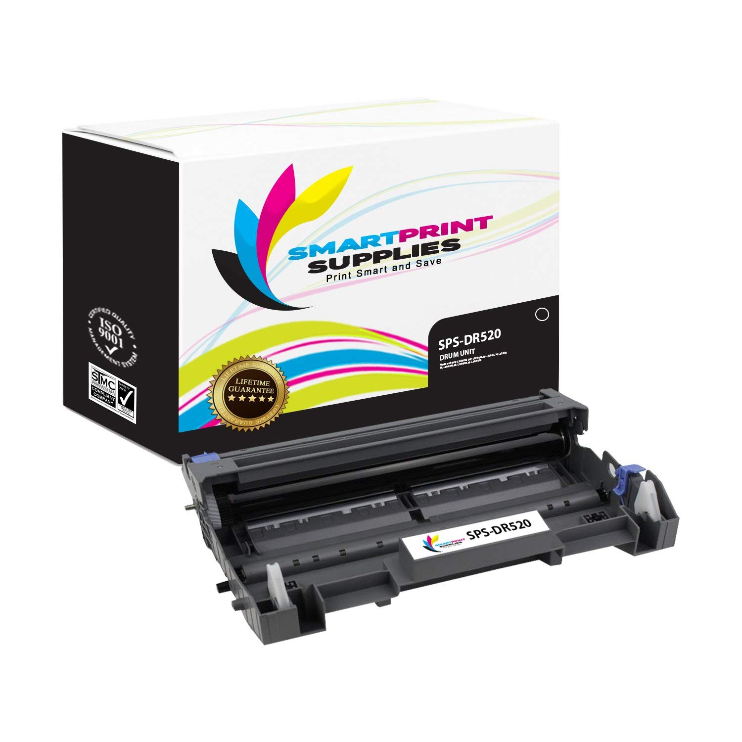 Smart Print Supplies DR520 DR-520 Compatible Drum Unit Replacement for Brother HL-5240 5250DN 5250DNT 5280DW, MFC-8460N 8660DN 8860DN 8870DW, DCP-8060 8065DN Laser Printers (25,000 Pages)