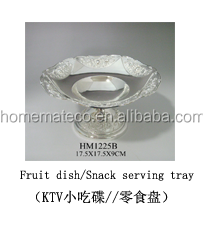 Special design metal crafts zinc alloy fruit plate snack storage dish tableware supplier household office and wedding decoration