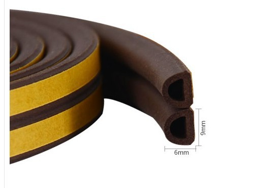 EPDM d type rubber strip,Brown d type rubber strip,Waterproof d type rubber strip
