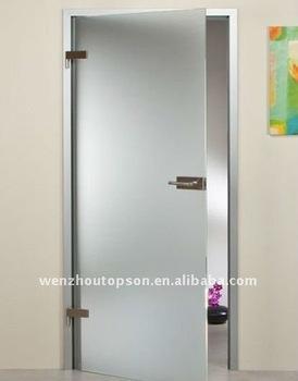 Vidrio puerta basculante y pivote sin marco puerta de cristal buy puerta batiente de cristal - Puertas deslizantes de cristal ...