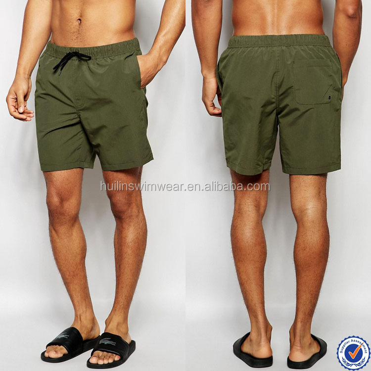 custom made mens swimwear mesh lining 100% polyester mid length board shorts