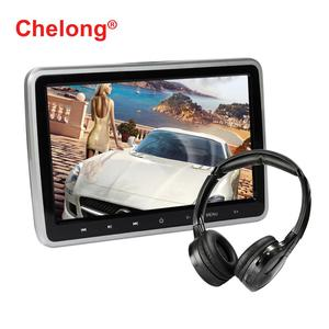 CL-101DVD 10.1-inch Car Headrest DVD with Touch the Button Support Radio/ TF Card / Multinational languages/Bluetooth/Wifi/USB