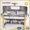 Restaurant supply china roll top chafer gold leg electric chafing dish heater