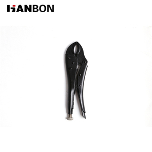 professional black finished curved jaw locking plier