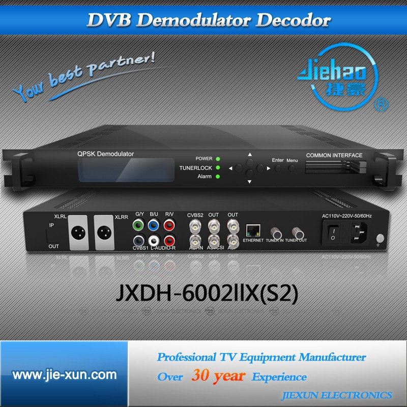 digital headend satellite tv decoder sd ird with 2CI slots, support CONAX ,Viaccess,irdeto cam