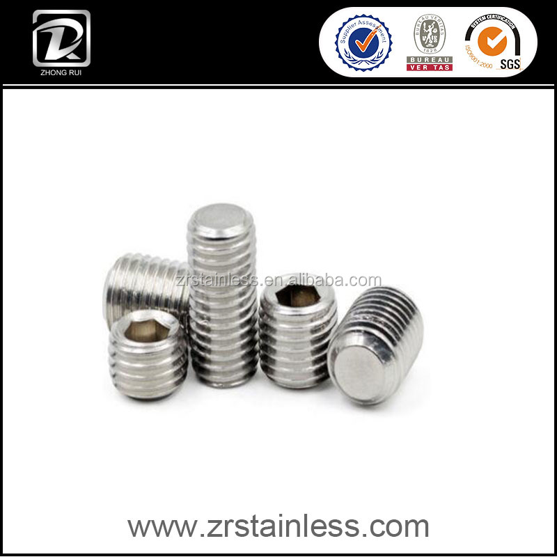 DIN 913 1.4401 Stainless Steel Hexagon Socket Set Screw With Die&Flat Point