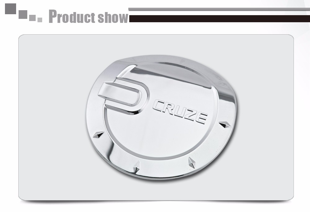 FOR CHEVY CRUZE 2008 09 2010 11 2012 2013 CHROME GAS TANK FUEL DOOR COVER