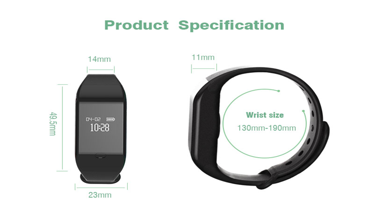 Fitpolo heart rate monitor smart bracelet bluetooth fitness tracker bracelet smart bracelet cicret
