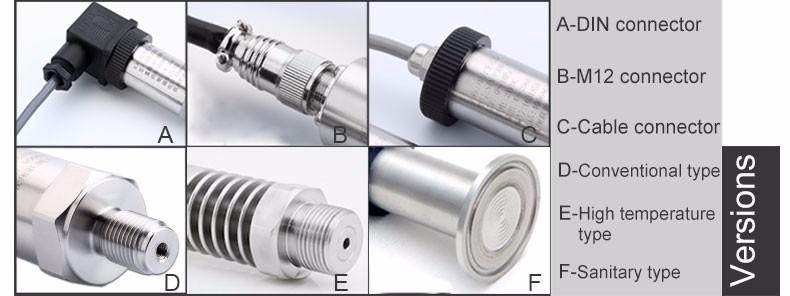 pressure sensor versions