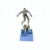 vintage stainless steel cheer metal golf league cup 3d model metal football trophy with wooden base