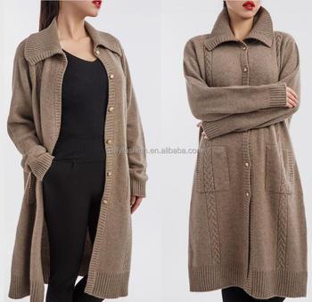 Half Long Design 100% Mongolian Cashmere Coat For Women - Buy ...