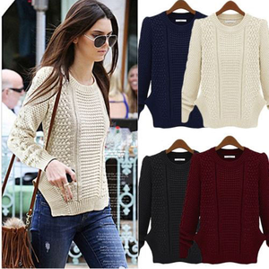 Knitwear Women Casual Long Sleeve Jumper Cardigan Coat Jacket Sweater Pullover