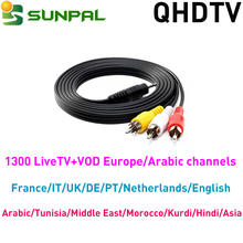 Cable with IPTV QHDTV subscription 1 year iptv account ip tv arabic french channels with Reseller Panel Wholesale QHDTV