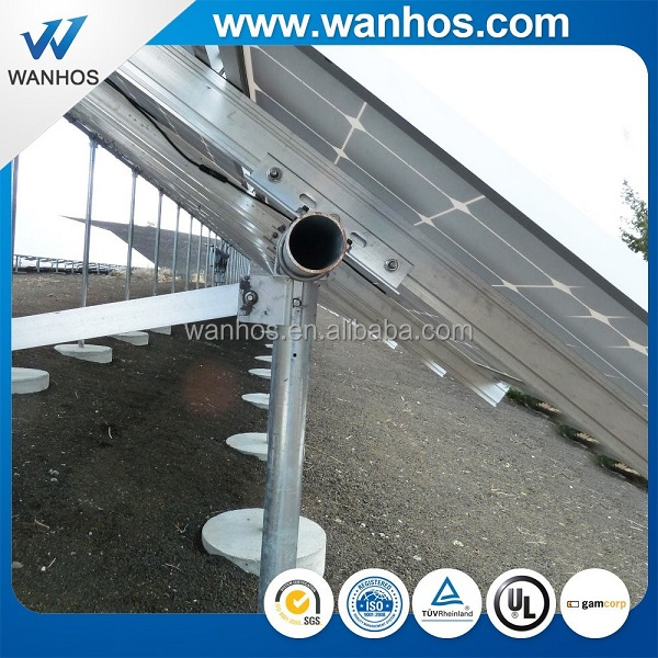 Wanhos grid tied ground pv mounting 50 KW ground mount solar racking systems