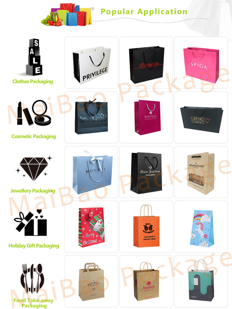 Competitive Price Elegant Customized Brand Logo Luxury Boutique Shopping White Paper Gift Bags With Ribbon Handles