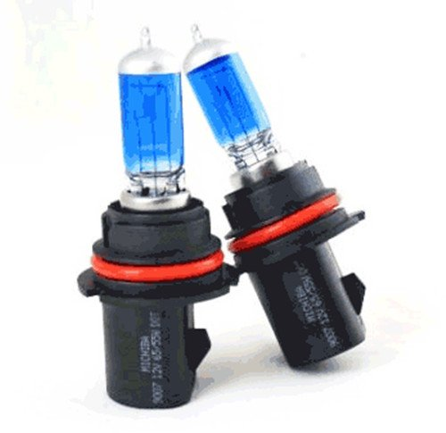 100w Super White High Quality Xenon Gas filled 9007 High/Low Beam light bulbs- a pair for 02 03 04 Ford Excursion/ 97 98 99 00 01 02 Ford Expedition/02 03 04 Ford Explorer Sport/2004 Ford F150-Heratige/92 93 94 95 96 97 98 99 00 01 02 03 F-series