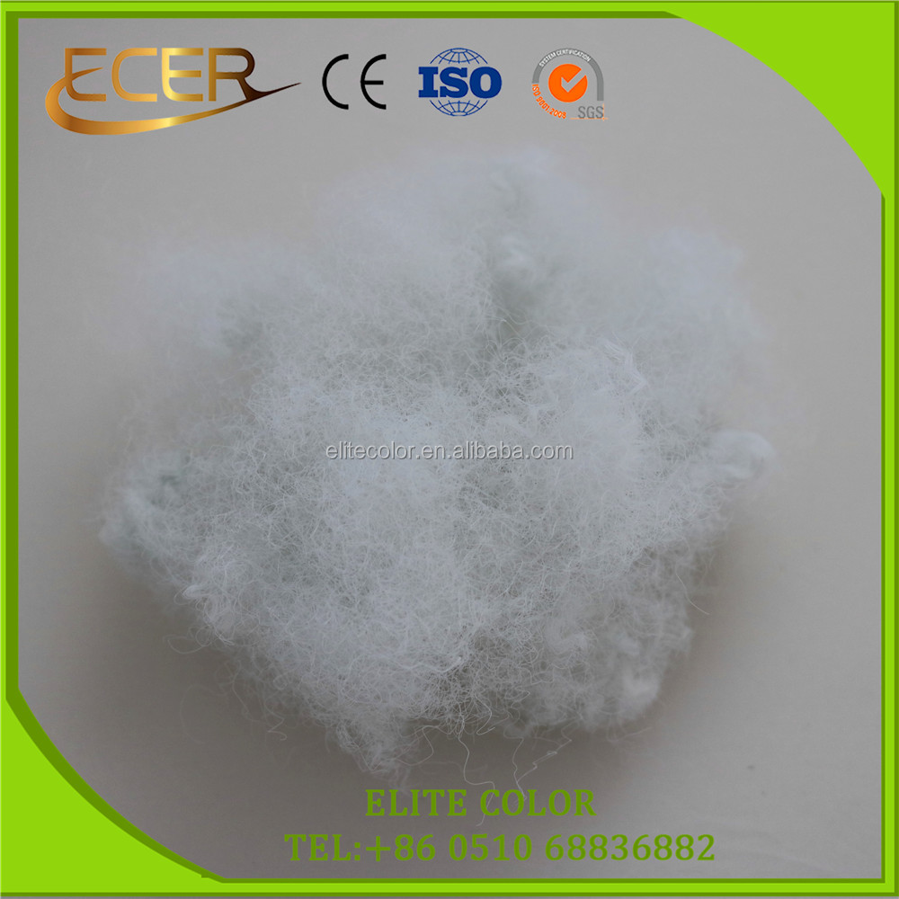 Jiangsu jiangyin eco-friendly fibre 70D optical white of recycled solid dope dyed polyester staple for needle punched use