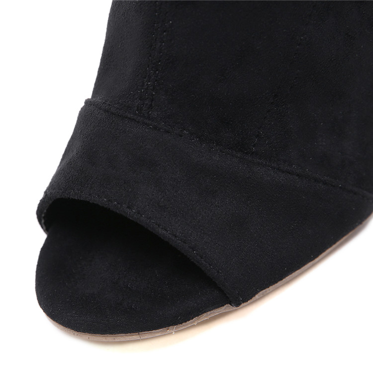 e6d45ac1d5b Cheelon Shoe Peep Toe Clear Block Heel Black Suede Ankle Boots Women  Booties Beautiful - Buy Black Suede Ankle Boots Women Booties,Black Suede  Ankle ...