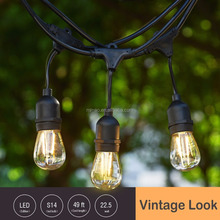2017 AU/EU/US Hotsale Christmas Lights - Vintage outdoor string lights for wedding, party, patio,with 18 edison industrial bulbs