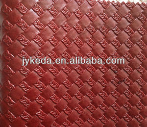 pvc weave leather / vacuum leather