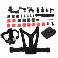 Hot selling Gopros accessory 33-in-1 Action Camera Accessories Kit for Go pro hero 3 / 4