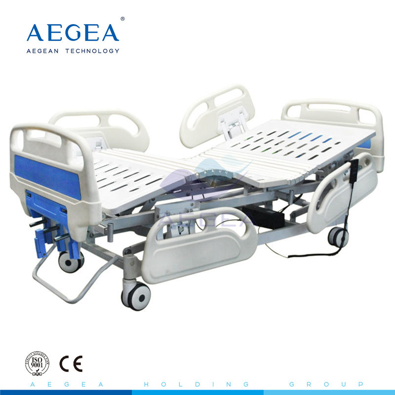 AG-BY104 adjustable detachable headboard 3-function bed used electric frame with four silent wheels