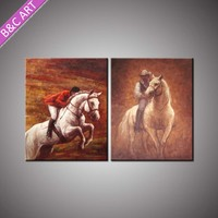 Home Decoration Living Room High Quality Western Cowboy Oil Painting for Sale