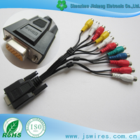 High quality DB 15P Male to RCA Female monitor Projector cable