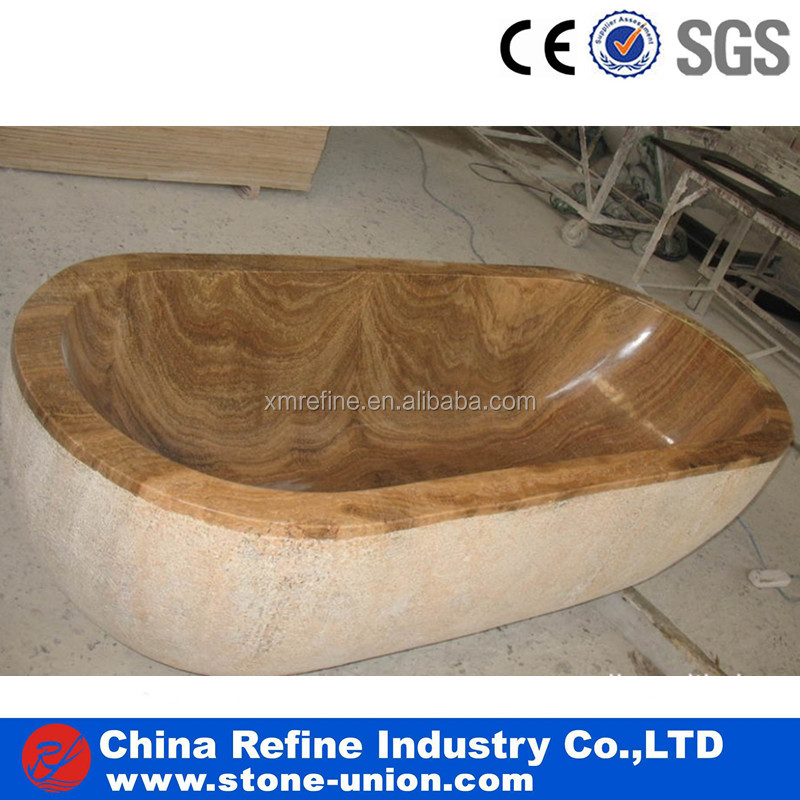 Natural Golden wooden marble sitting bathtubs