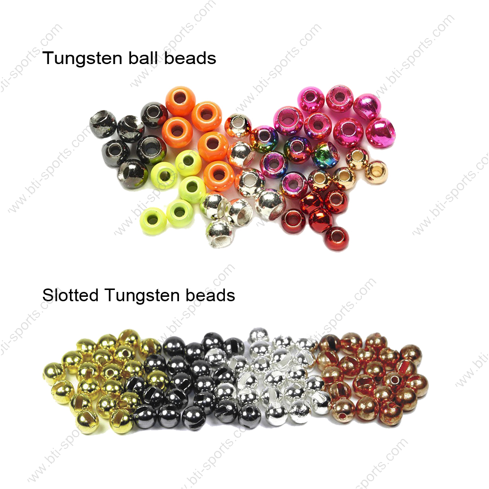 Various custom fly tying tungsten/brass ball beads and neck ring with flexible MOQ and custom design