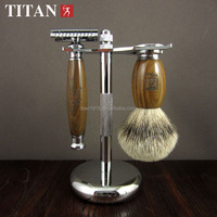 shaving set safety razor with green sandal handle disposable razor blade christmas gift