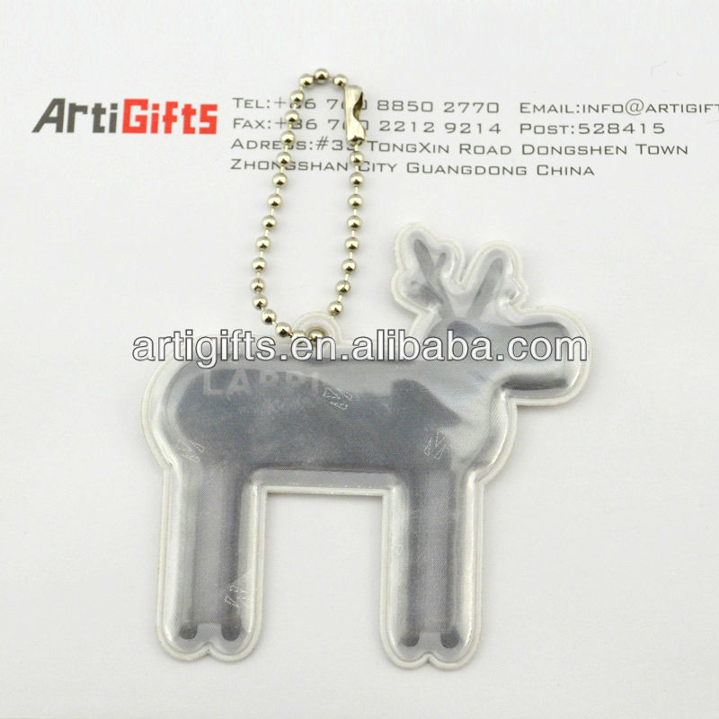 Cute design pvc reflective hanger for kids gifts