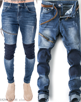 X84993a New Fashion Model Style Ripped Jeans Pent Men Trousers