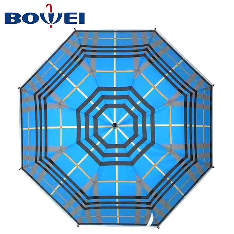 China supplier practical automatic open poe large umbrella with printing